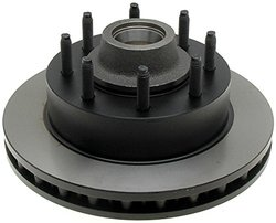 ACDelco 18A931A Advantage Non-Coated Front Disc Brake Rotor and Hub Assembly