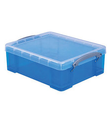 "Really Useful 8.1 Liters 14"" x 11"" x 5"" Plastic Storage Box - Blue"