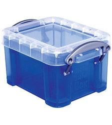 "Really Useful 0.14 Liter 3-1/4""x 2-1/2""x 2"" Plastic Storage Box - Blue"