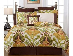Pointehaven Hannah 12-Piece 100% Cotton Bedding Ensemble - Size: Full