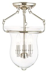 Sale Livex Lighting 50295 Canterbury 12 Inch Semi Flush Mount