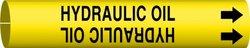 "Brady ""Hydraulic Oil"" Black On Yellow Printed Strap-On Pipe Marker(4199-G)"