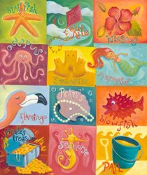 Oopsy daisy Tropical Treasures Canvas Stretched Art by Angela Donato, 21 by 25-Inches