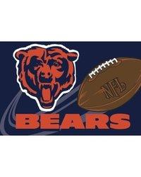 "NFL Chicago Bears Round Edge Bath Rug - Blue - Size: 20"" x 30"""