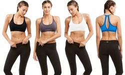 Marika Varsity High-impact Sports Bras: Black-iron/small (2 Pack)