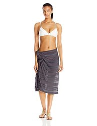 ASICS Women's Sarong, Steel Grey, One Size