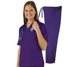 Natural Uniforms Unisex 6 Pocket Scrub Set - Teal - Size: Small