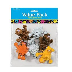 Fun Express Standing Zoo Animal Characters - Party Bag Fillers - Pk of 6