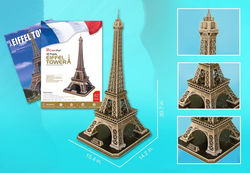 CubicFun 82-Pieces Eiffel Tower Large 3D Puzzle with Book