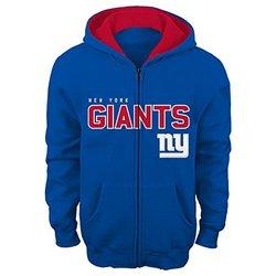 """NFL New York Giants 4-7 """"Stated"""" Full Zip Hoodie, Medium, DK Royal"""