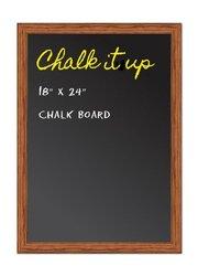 """ComeAlong Industries Solid Oak Frame Chalkboard, Honey Oak, 18"""" Width x 24"""" Height"""