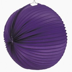 Purple Paper Party Lanterns (6 pc)