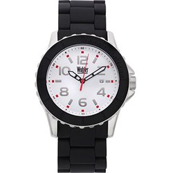 Wolfgang Men's Watch Stainless Steel Bracelet & Bezel - Black/White/Red
