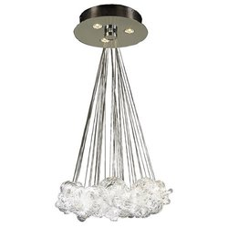 PLC Lighting Elegance Polished Chrome Small Pendant 96975
