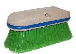 "Magnolia Brush 3026 Vehicle Washing Brush, Flagged Nylon Bristles, 2-1/2"" Trim, 9"" Length x 2-5/8"" Width, Dark Green (Case of 12)"