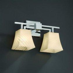 Justice Design Group Lighting FSN870240WEVECROM Fusion Collection Aero 2-Light Bath Bar