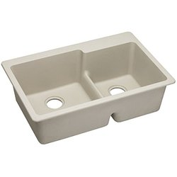 Elkay Gourmet E-Granite Double Bowl Top Mount Sink (ELGLBO3322BQ0)
