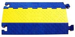 One-Piece Overfloor, Multi-Channel Raceway Yellow & Black Polyurethane