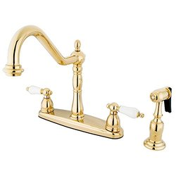 Kingston Brass KB1752PLBS+ Kitchen , Faucet, Polished Brass