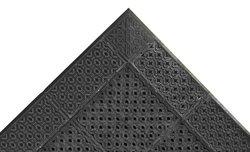 "NoTrax PVC Vinyl 522 Cushion-Lok Anti-Fatigue Drainage Mat, for Wet Areas, 30"" Width x 36"" Length x 7/8"" Thickness, Black"