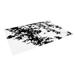 "Kess InHouse Ingrid Beddoes ""Black on White"" Outdoor Floor Mat/Rug, 5 by 7-Feet"