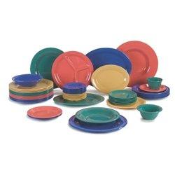 12 oz., 7.25 in. Diameter Wide Rim Melamine Rimmed Bowl in Red Case of 24
