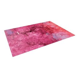 "Kess InHouse CarolLynn Tice ""Cotton Candy"" Red Pink Outdoor Floor Mat/Rug, 4 by 5-Feet"