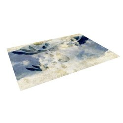 "Kess InHouse Iruz33 ""Doves Cry"" Outdoor Floor Mat/Rug, 5 by 7-Feet"