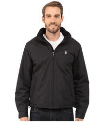 U.S. Polo Assn. Men's Polar Fleece Lined Jacket - Black - Size: 2XL