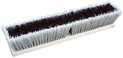 "Zephyr 39518 Combo/Strand Push Broom, 18"" Head Width, Red and Grey (Case of 12)"
