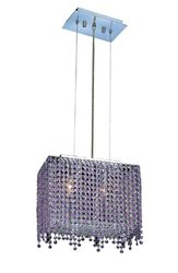 Elegant Lighting 1391D14C-RO/RC Moda 13.5-Inch High 2-Light Chandelier, Chrome Finish with Rosaline (Pink) Royal Cut RC Crystal