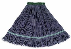 """Wilen A03012, Jean Clean Looped End Wet Mop, Medium, 1-1/4"""" Tape Band (Case of 12)"""