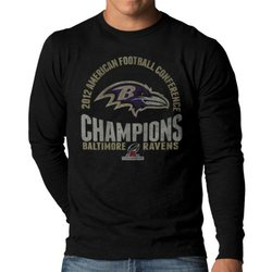 NFL Baltimore Ravens 2012 AFC Champs Long Sleeve Scrum Tee - Black - Sz: M
