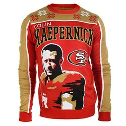KLEW NFL San Francisco 49ers Kaepernick C. #7 2015 Player Ugly Sweater, XX-Large, Red