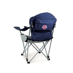 Detroit Pistons Reclining Camp Chair - Navy