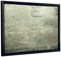 "JP London SFCNV2268 Concrete Art Grunge Graffiti Stamp 1.5"" Thick Framed Heavyweight Canvas, 20"" x 16"""