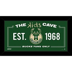 "Steiner Sports Milwaukee Bucks 10"" x 20"" Kids Cave Sign Buk Team"