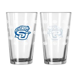 NCAA Southern Jaguars Satin Etch Pint Glass Set (Pack of 2), 16-Ounce