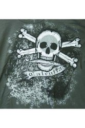 Calcutta Men's Kickback Skull T-shirt - Grey - Size: