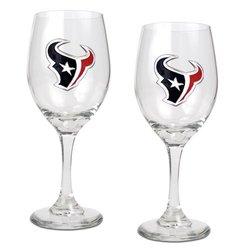 Great American Set of 2 NFL Houston Texans Wine Glass Set