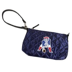 NFL New England Patriots Retro Quilted Wristlet, Navy