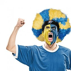 NBA Oklahoma City Thunder Curly Head Wig, 10.5-Inch x 6-Inch, Blue