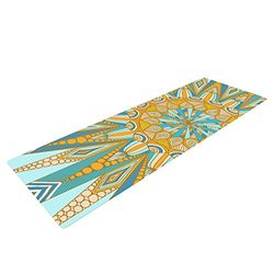 "72x24"" Art Love Passion Here Comes The Sun Exercise Yoga Mat - Blue/Yellow"
