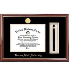 "Kansas State University 8.5"" x 11"" Tassel Box and Diploma Frame gold"