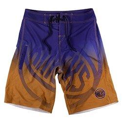 KLEW NBA New York Knicks Gradient Board Shorts, Large, Blue
