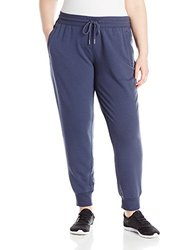 New Balance Women's Essentials Plus Classic Sweatpant, Navy, X-Large