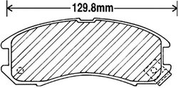 Beck Arnley  082-1358  Premium Brake Pads