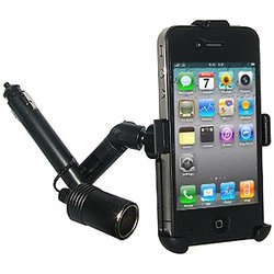 Amzer Lighter Socket Mount with Power Dongle for iPhone 4/4S