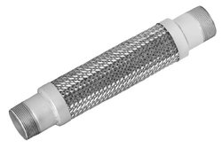 """Mason MN-1""""x24"""" Stainless Steel 304 Braided Hose Assembly, 1"""" Carbon Steel NPT Male Threaded Nipple Connection, 30"""" Hg Vacuum Rating, 580 PSI Maximum Pressure, 24"""" Length, 1"""" ID"""