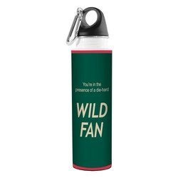 Tree-Free Greetings VB48182 Hockey Fan Artful Traveler Stainless Steel Water Bottle, 18-Ounce, Wild